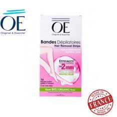 Bộ 16 miếng dán tẩy lông cho da thường OE Dépilatoires Rose