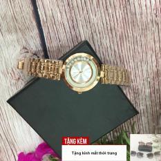 [TẶNG KÍNH GỌNG NHỰA VIỀN VÀNG] Đồng hồ nữ GUOU đá chạy dây thép sang trọng G36-61