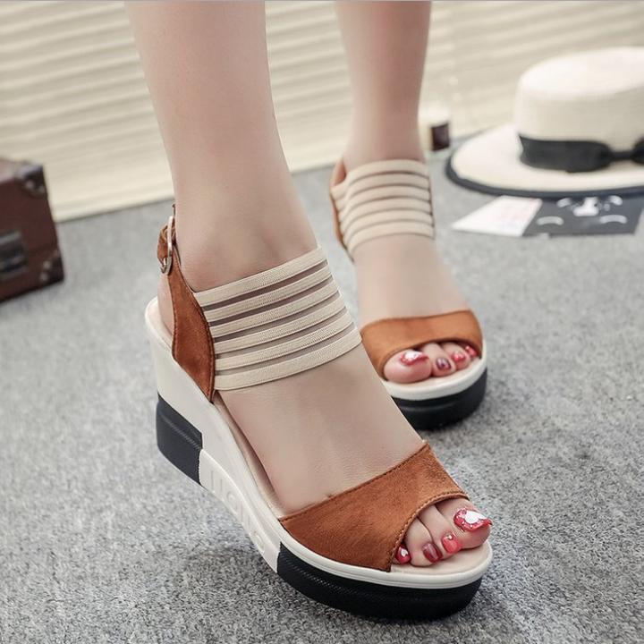 FS09N- Giày sandal đế xuồng nữ thời trang