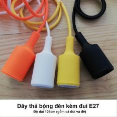 Dây thả bóng đèn kèm đui E27 màu trắng/đen/vàng/cam