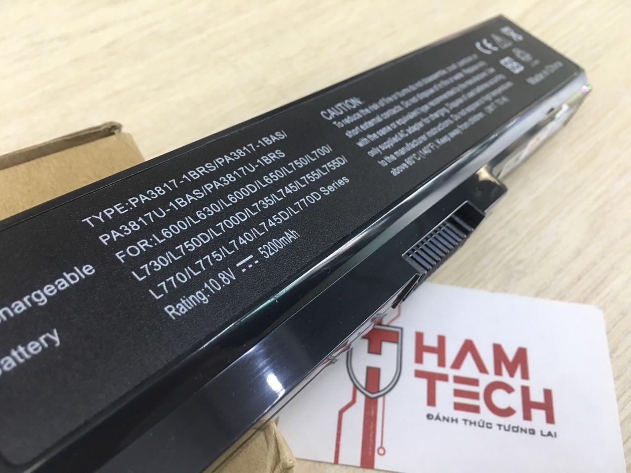 Pin Laptop Toshiba Satellite A660 A665 A665d C600 C640 C650 C650d Baterai Batre L750 L740 L745 L775 3817 Pa3817 Original C660 C655 C665 C675 L510