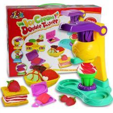 Đồ chơi đất nặn có máy làm kem và 5 hộp màu cho bé