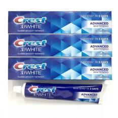 Bộ 4 Kem đánh răng Crest 3D White Advanced Whitening 170g x 4