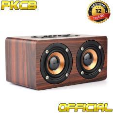 Loa gỗ bluetooth gắn thẻ nhớ HIFI super bass stereo speaker âm thanh nổi PKCB-G4