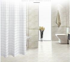 Màn treo nhà tắm Caro trắng size lớn 1.8m x 1.8m