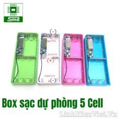 So sánh giá Box sạc dự phòng 5 cell LCD V1 Tại SMDchip