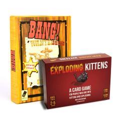 Set Boardgame kinh điển Combo bài mèo nổ Exploding Kittens & bài Bang Việt hóa