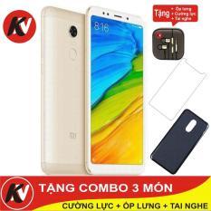Xiaomi Redmi 5 Plus 64GB Ram 4GB Kim Nhung (Vàng) – Hàng nhập khẩu + ốp lưng silicon + Cường lực + Tai Nghe