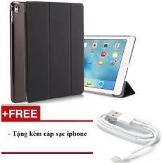 Bao da cho iPad Mini 123/ iPad Mini 4/ iPad Air/ iPad Air 2/ iPad New 2017/ iPad 234/ iPad Pro 9.7 – Smart cover PKCB – tặng kèm cáp sạc iPhone