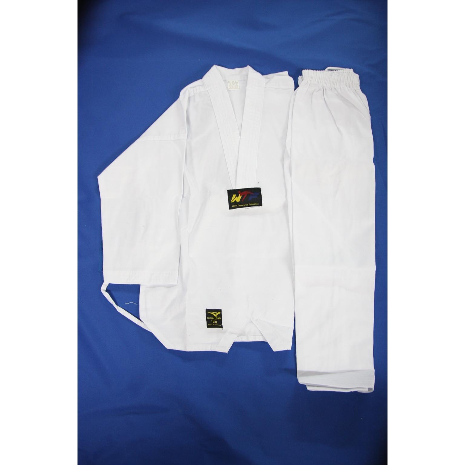 Võ Phục Taekwondo Vải Phong Trào (Đủ size từ 100-170cm)