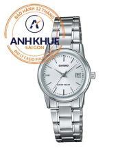 Đồng hồ nữ dây thép không gỉ Casio Anh Khuê LTP-V002D-7AUDF