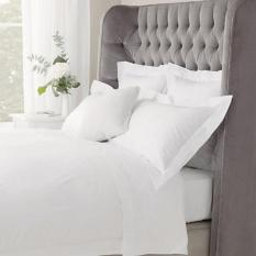 Bộ Drap giường Cotton trắng (kích thước 1m6*2m*20cm) + 2 vỏ gối nằm + 1 vỏ gối ôm