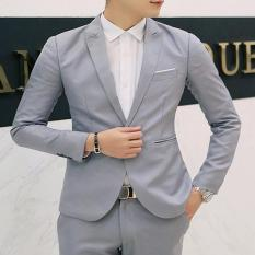 YANYI Men Casual Business Jacket One Button Slim Fit Suit Fashionable Coat Tops