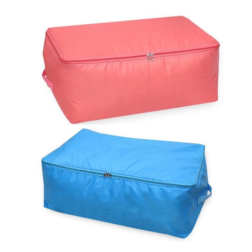 Bộ 2 Túi đựng quần áo chăn màn vải dù CHỐNG THẤM (Xanh dương)