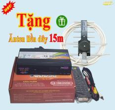 Đầu KTS truyền hình mặt đất DVB T2 VJV 123 Hùng việt tặng anten liền dây 15m