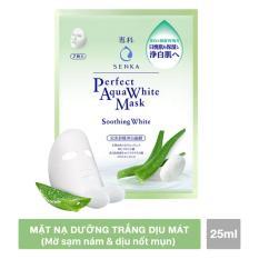 Mặt nạ Senka dưỡng trắng dịu mát 25ml/miếng (xanh lá)
