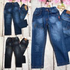 Quần jeans dài bé trai size đại cồ túi phối chỉ từ 44kg đến 56kg – QT253