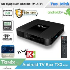 Android Tivi Box TX3 Mini RAM 2GB, bộ nhớ trong 16GB, Bluetooth, Android 9 – Bảo hành 2 năm