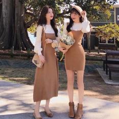 """""""Váy len body dành cho nữ, Bán lẻ đen dài ,Freesize (chất lượng)"""""""