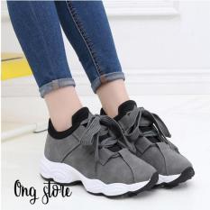 Giày thể thao nữ đế sóng phong cách Hàn Quốc (dây to)