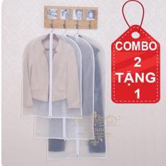 Combo 2 Tặng 1. Túi quần áo chống bụi có dây kéo loại Dày size Lớn 100*60