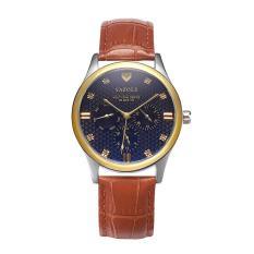 Đồng hồ thời trang nam dây da cao cấp YAZOLE Q06