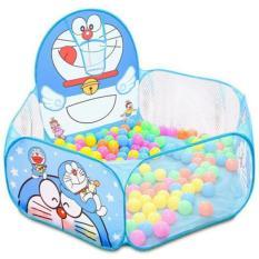 Nhà bóng lều bóng Doremon tặng kèm 100 quả bóng nhựa cho bé