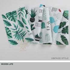 Bộ 4 khăn lót chén dĩa trẻ trung đậm chất vintage
