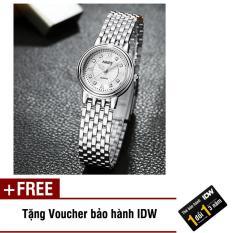 [Có video quay thật] Đồng hồ nam nữ dây thép không rỉ cao cấp Nary IDW S0661 + Tặng kèm voucher bảo hành IDW