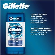 Lăn khử mùi nam Gillette Endurance Clear Gel Cool Wave 107g