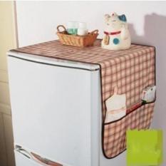 Tấm khăn phủ tủ lạnh chống bẩn tủ lạnh bằng vải không dệt cao cấp – có nhiều túi để đồ – trang trí nhà bếp