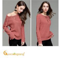 Áo len nữ áo nữ len mùa thu Queenbe hồng GLA181