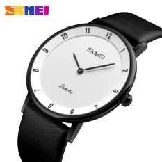 đồng hồ dây da nam skmei sk1263 dây da cao cấp mềm dẻo, mặt mỏng 7mm, hiển thị giờ số cổ điển chịu nước 30m ( có bảo hành )