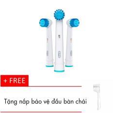 Bộ 3 đầu bàn chải đánh răng điện Oral-B sensitive clean + Tặng kèm nắp chụp đầu bàn chải .