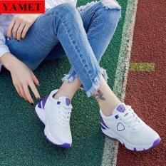 Giày Sneaker Thể Thao Nữ Mẫu Mới Siêu Hot YAMET SNN35528WT Trắng Phối Tím