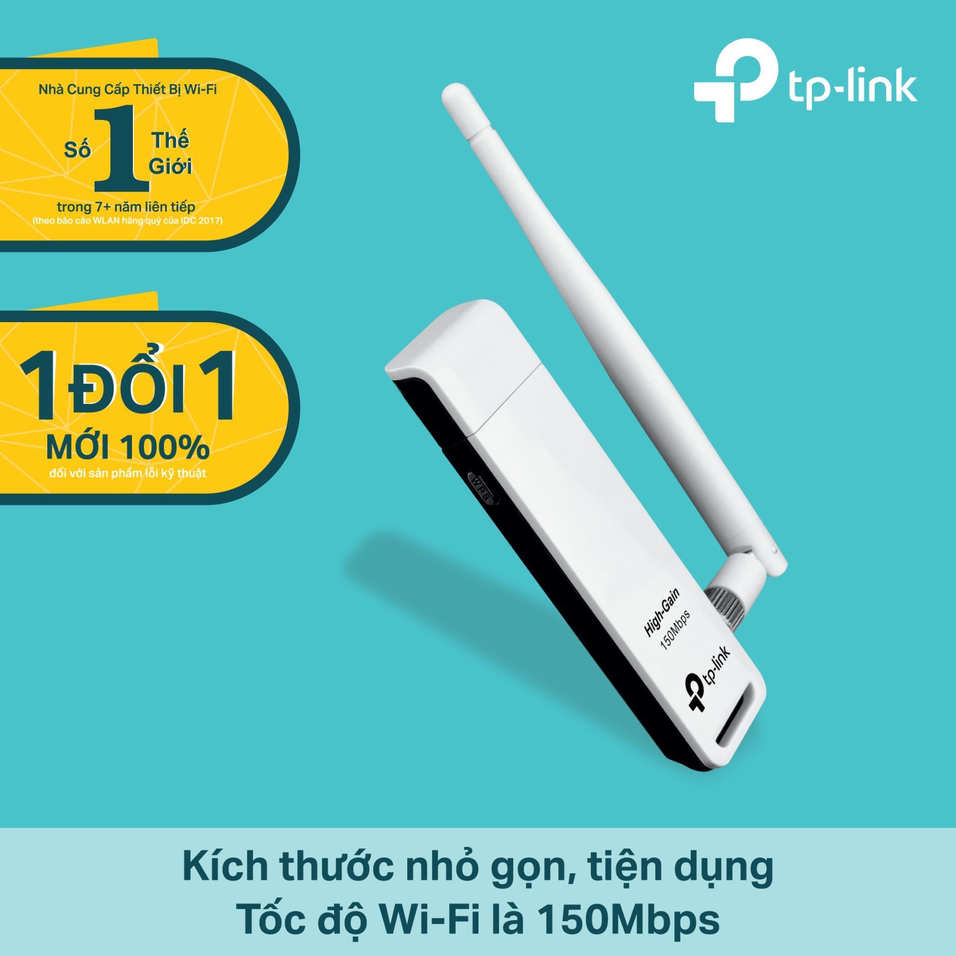 Bảng Giá TP-Link – TL-WN722N – USB kết nối Wi-Fi Chuẩn N 150Mbps Độ lợi cao-Hãng phân phối chính thức Tại TP-Link