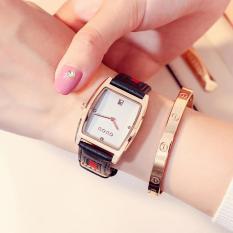 Đồng hồ nữ GUOU mặt quả trám lịch ngày lạ mắt dây da phối vải kiểu mới IW-G8074