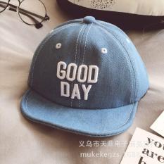 Mũ vành jean chữ Goodday sành điệu cho bé trai 1-3 tuổi