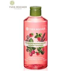 Gel tắm YVES ROCHER ENERGIZING BATH AND SHOWER GEL RASPBERRY PEPPERMINT FL 400 ML BOTTLE