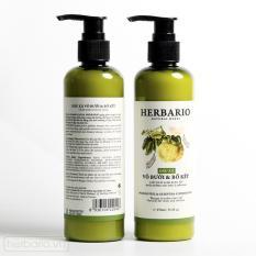 Combo 2 chai Dầu xả Vỏ bưởi và Bồ kết Herbario 270ml giúp ngăn rụng tóc