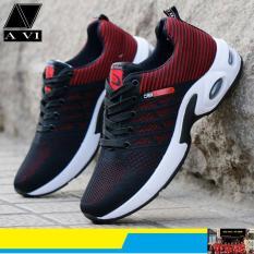 Giày thể thao nam SP-267 (màu đen đỏ)