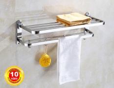 Giá treo khăn tắm (2 tầng+ móc treo) SUS304 – Hàng cao cấp ITALIA