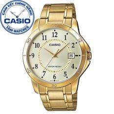 Đồng hồ nam dây thép không gỉ Casio Standard Anh Khuê MTP-V004G-9BUDF