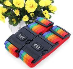 Bộ 2 dây đai vali khóa số kèm thẻ tên