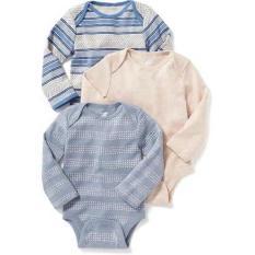 Áo liền quần Sơ sinh bé Trai OLD NAVY 0-3 tháng – 3 cái – Hàng nhập Mỹ