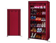 [ĐỒNG GIÁ 99K 2 NGÀY CUỐI] – Tủ giày dép 7 tầng 6 ngăn bọc vải cao cấp (Đỏ đô)