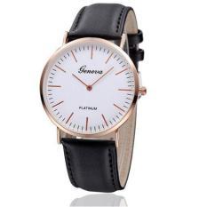 Đồng hồ nam dây da cao cấp thời trang mặt mỏng Geneva Q03