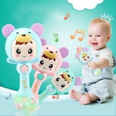 Đồ chơi Bé Shaker lục lạc cầm tay chạy pin phát nhạc vui nhộn kèm gặm nướu cho bé