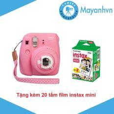 Máy chụp ảnh lấy ngay Fujifilm Instax mini 9 – Tặng kèm 2 hộp giấy in FujiFilm 10 tấm – Hãng phân phối chính thức