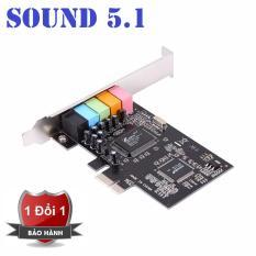 CMI8738 PCI-Express 6-Channels Digital Audio Sound Card SFF For Win 7/XP 24bit – Intl(Đen)